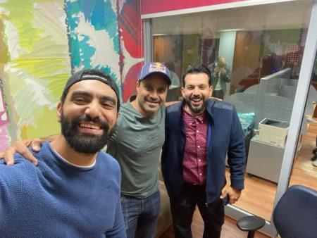 صورة تامر بشير علي نجوم اف ام والضيف العالمي ناصر العطية
