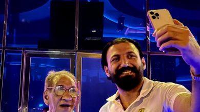 صورة السبكي وماجد المصري ولقاء الصدفه في ماربيا